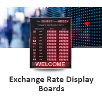 Exchange Rate Display Boards