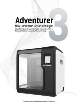 Flashforge Adventure 3 3D Printer