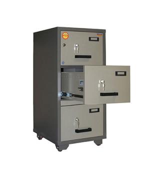 Valberg FC 3K-KK Fire Resistant 3 Drawer Filing Cabinet