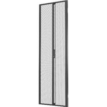 Vertiv Liebert VRA6006 42U x 800mm Wide Split Perforated Doors Black