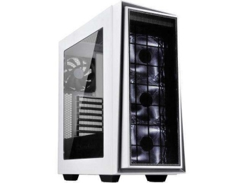 SilverStone SST-RL06WS-PRO Primera Series Computer Case (White with Silver Trim, LED Fans, Acrylic Window)