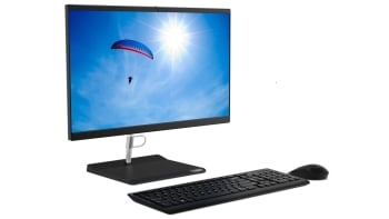 "Lenovo V50a-24 All-in-One 23.8"" FHD Touch PC (Intel Core i7, 8GB, 1TB HDD, DOS)  With Arabic Key"