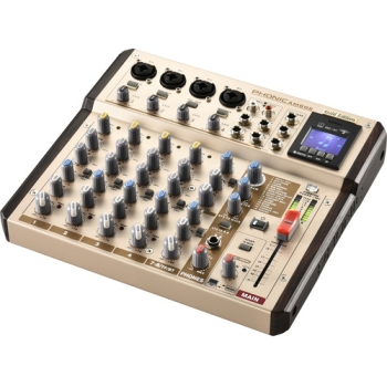 Phonic AM8GE Bluetooth TF Recorder & USB Interface AM Gold Edition Compact Mixer