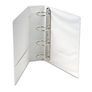 "Ideal 1/2"" 4 Ring Presentation Binder White A4 Size - Set of 10"