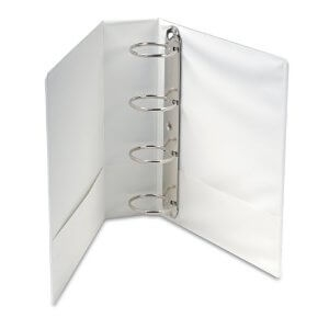 "Ideal 4"" 4 Ring Presentation Binder White A4 Size - Set of 10"