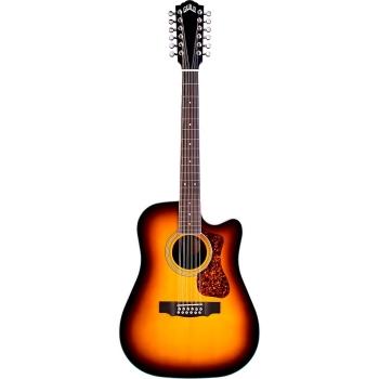 Guild D-2612CE Deluxe Antique Sunburst Acoustic-Electric Guitar
