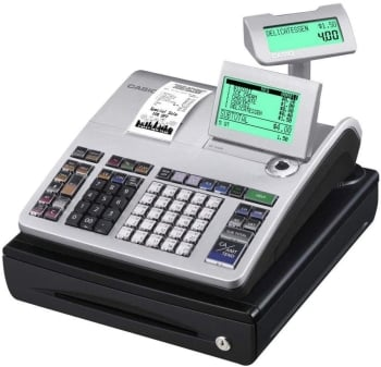 Casio SE S400 10-Line Operator LCD Display Cash Register