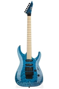 ESP LMH203QMSTB LTD MH-203QM, See-Thru Blue Finish Guitar