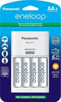 Panasonic K-KJ51MCC20S Advanced Individual Battery Charger with 4 Eneloop