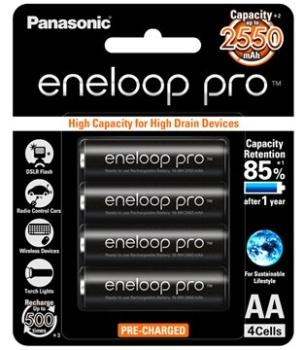 Panasonic BK-3HCCE4BT2 Eneloop Pro Rechargeable Battery