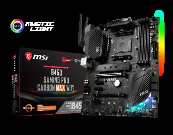 MSI B450 Gaming Pro Carbon Max Wi-Fi Motherboard
