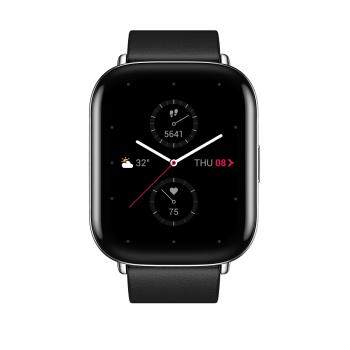 Zepp Square PolarNightBlack Leather Strap Smart Watch