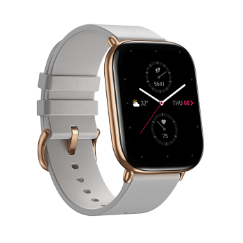 Zepp MoonGrey Leather Strap Smart Watch