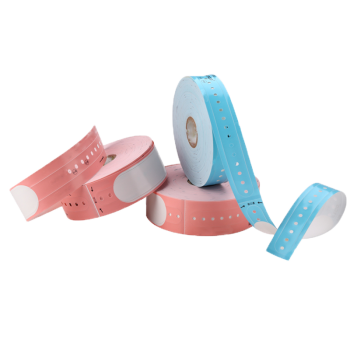 """DM F2 Adult Pink 10.2"""" Label Thermal Wristband"""