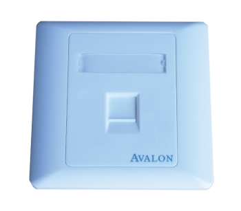 Avalon Single Port RJ45 Face Plate