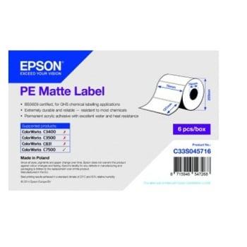 Epson PE Matte Label - Die-cut Roll: 76mm x 127mm, 960 labels