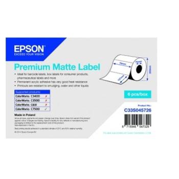 Epson Premium Matte Label - Die-cut Roll: 76mm x 127mm, 960 labels