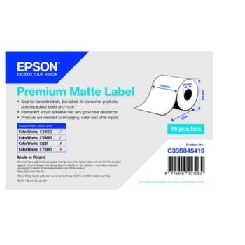 Epson Premium Matte Label Cont.R, 105mm x 35m