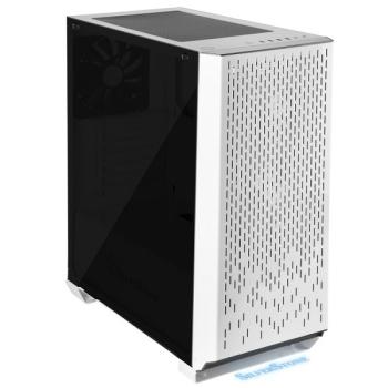 SilverStone SST-PM02W-G Primera Series Computer Case (White, Tempered Glass Window)