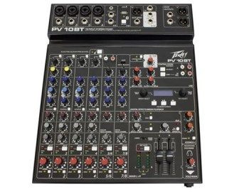 Peavey PV-10BT Compact 10 Channel Mixer  With Bluetooth