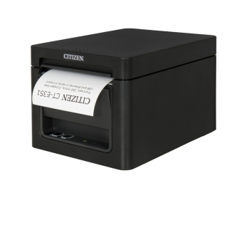 Citizen CT-E351 203 dpi Thermal Printer USB, RS232, 8 dots/mm, Black