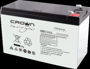 Crown Micro CMBT-12V-9 Ah Valve Regulated Lead Acid Battery