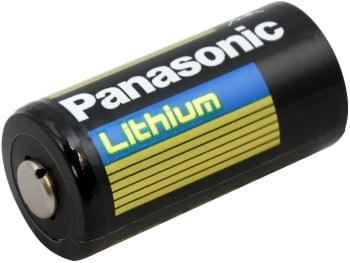 Panasonic CR123A 1550mAh 3V Lithium Button Top Photo Battery