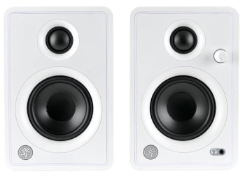"""Mackie CR3-XBTWH 3"""" Creative Reference Multimedia Monitors with Bluetooth"""
