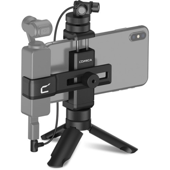 Comica Audio CVM-MT-K1 Camera-Mount Stereo Microphone with Smartphone Monitor Kit for DJI Osmo Pocket