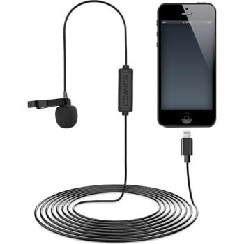 Comica Audio CVM-V01SP(MI) Omnidirectional Lightning Lavalier Microphone  - 2.5m Cable