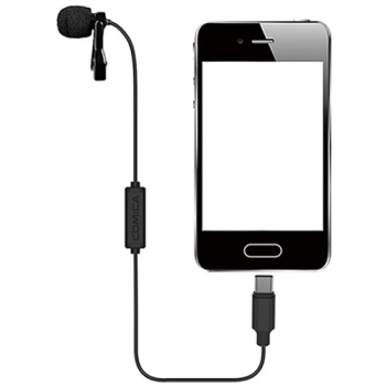 Comica Audio CVM-V01SP(UC) Omnidirectional USB Type-C Lavalier Microphone - 2.5m Cable