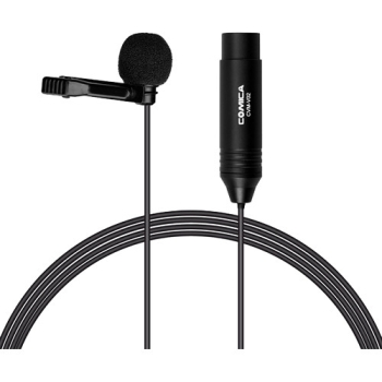 Comica Audio CVM-V02O Omnidirectional Lavalier Microphone with XLR Connector - 1.8 m Cable