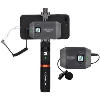 Comica Audio CVM-WS50H Wireless Handheld Microphone Bundle for Smartphones