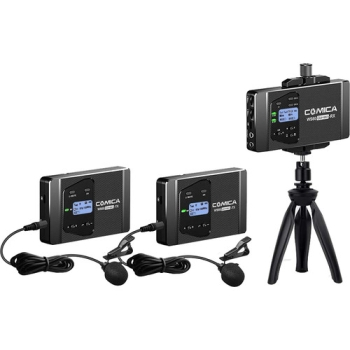 Comica Audio CVM-WS60 COMBO Wireless Microphone System for Smartphones/Cameras