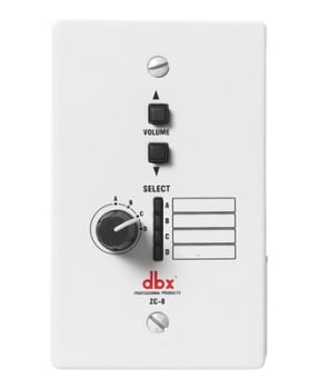 dbx ZC8 Wall-Mounted Zone Controller