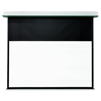 "DMInteract 92"" HD Fiber Glass In-Ceiling Electric Projector Screen"