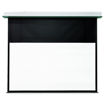 "DMInteract 160"" HD Fiber Glass In-Ceiling Electric Projector Screen"