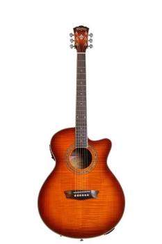 Washburn EA15ITB Mini Jumbo Acoustic Electric Guitar