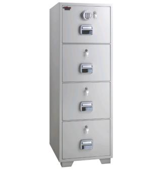 Eagle SF-680-4EKK Fire Resistant Filing Cabinet (4 Drawer, Digital & 4 Key Lock)