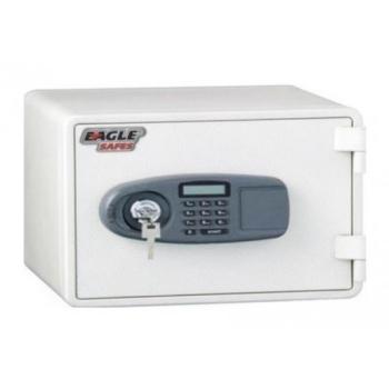 Eagle Fire Resistant Safe Digital And Key Lock (White)
