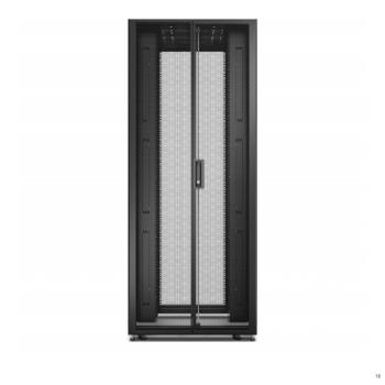 APC ER8822 800mm-48U-1200mm & Roof, Side Panel Castors Feet & 4 Brackets No Bottom Black Easy Rack