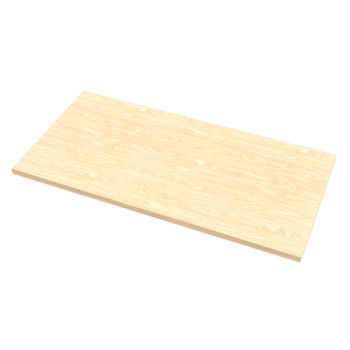 Fellowes Levado Worktop Only Maple (1600mm X 800mm)