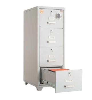 Valberg FRF 4E-KK 4 Drawer Fire Resistant Filing Cabinet