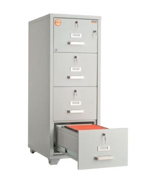 Valberg FRF 4K-KK 4 Drawer Fire Resistant Filing Cabinet Without Digital & Key Lock
