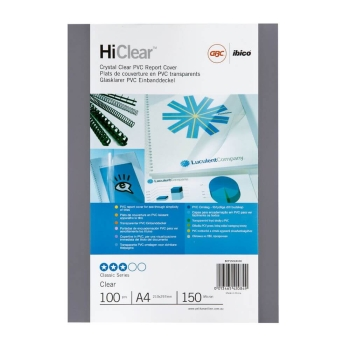 GBC BINDING COVERS POLYCLEAR FROST A4 300MIC PACK OF 100