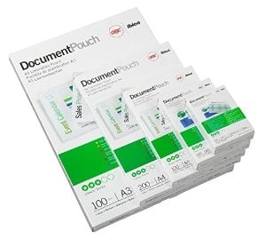 GBC LAMINATING POUCHES EASY ARCHIVING A4 5MIL / 150MIC PACK OF 100
