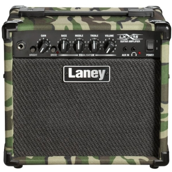 Laney LX15-Camo On-board Compressor Overdrive With Guitar Mixer