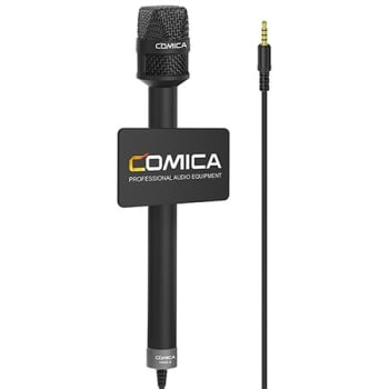 Comica Audio HRM-S Cardioid Handheld Reporter Microphone with Cable for Smartphones