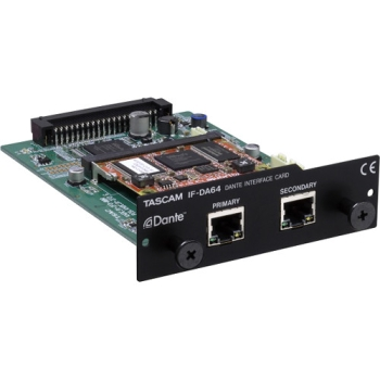 Tascam IF-DA64 64-Channel Dante Interface Card for DA-6400 64-Channel Recorder
