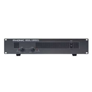 Phonic MAX2500PLUS 750Wx2 @4Ohms Stereo Power Amplifier